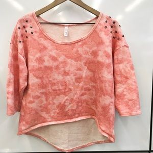 Tie die cropped sweatshirt size large